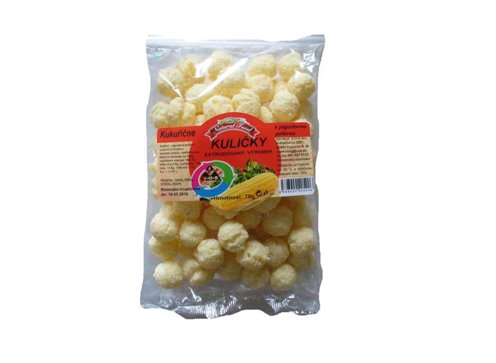 Kukuričné guličky s jogurtovou polevou 70g