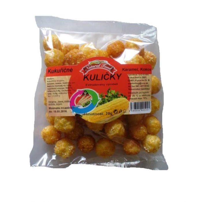 Kukuričné guličky s karamelom 70g